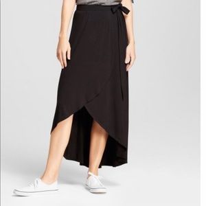 A New Day women's Midi wrap skirt Black XXL